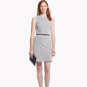 Theory Raneid K Gray Felt Knit Wool Dress